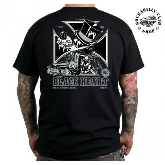 BLACK HEART - Tričko Pánské Black Heart Wolf Cross