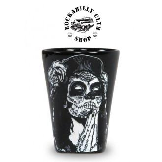 LIQUOR BRAND - Keramický panák Liquor Brand Gipsy Rose