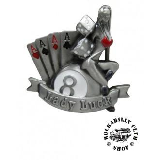 DOPLŇKY / ACCESSORIES - Přezka na pásek Rocka Lady Luck Gamble Buckle