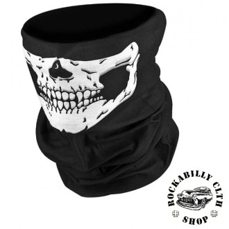 DOPLŇKY / ACCESSORIES - Nákrčník Rocka Neck Tube Mouth Skull