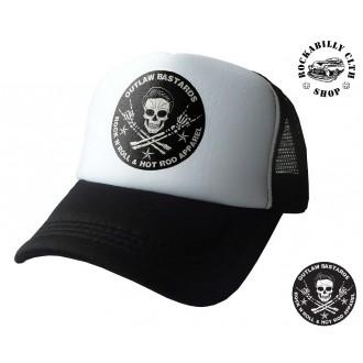 OUTLAW BASTARDS - Kšiltovka Truckerka Outlaw Bastards Skull