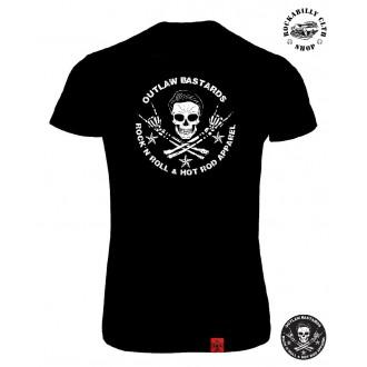 OUTLAW BASTARDS - Tričko Dámské Outlaw Bastards Skull