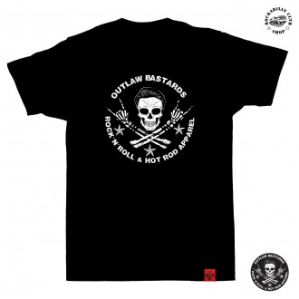 OUTLAW BASTARDS - Tričko pánské Outlaw Bastards Skull