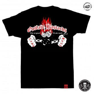 OUTLAW BASTARDS - Tričko pánské Outlaw Bastards Dice Flames