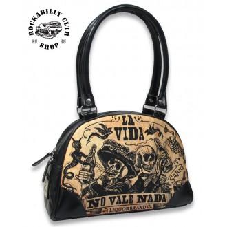 LIQUOR BRAND - Dámská taška kabelka retro rockabilly pin-up Liquor Brand La Vida