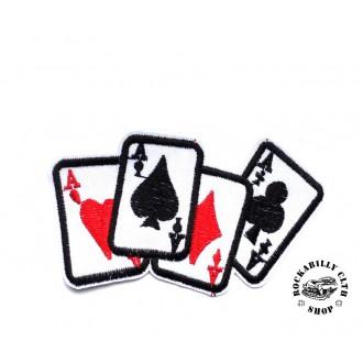 DOPLŇKY / ACCESSORIES - Nášivka Rocka Poker Cards