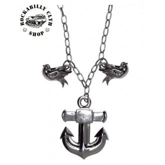 DOPLŇKY / ACCESSORIES - Náhrdelník Sourpuss Clothing Necklace Anchor Charm
