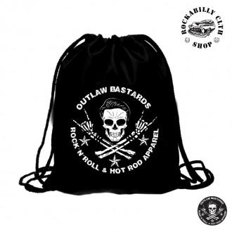 OUTLAW BASTARDS - Taška Outlaw Bastards Skull Gym Bag