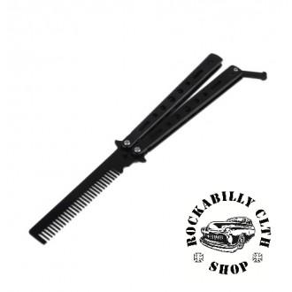 DOPLŇKY / ACCESSORIES - Hřeben Rocka Butterfly Knife Comb Black
