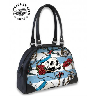 LIQUOR BRAND - Taška kabelka Liquor Brand Nautical Skull Bowl Bag