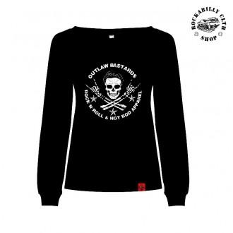 HOLKY / GIRLS - Dámská mikina Outlaw Bastards Skull