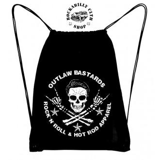 OUTLAW BASTARDS - Batoh Taška Outlaw Bastards Skull Gym Bag