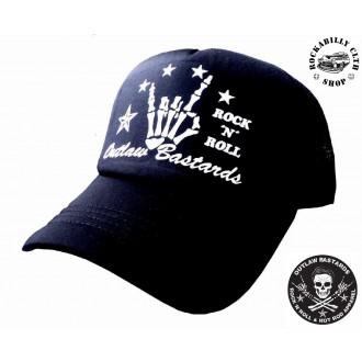 DOPLŇKY / ACCESSORIES - Kšiltovka Truckerka Outlaw Bastards R/N/R Black