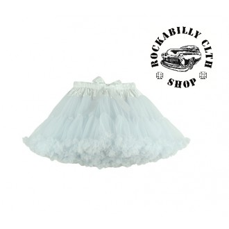 HOLKY / GIRLS - Spodnička dámská retro rockabilly pin-up Tutu Swing Skirt White