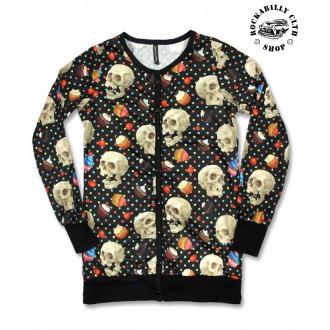 HOLKY / GIRLS - Svetr Cardigan Dámský Liquor Brand Cupcake Skulls