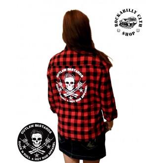 HOLKY / GIRLS - Košile dámská Outlaw Bastards Skull