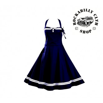 HOLKY / GIRLS - Šaty Rocka Lussy Retro Dress Navy Blue