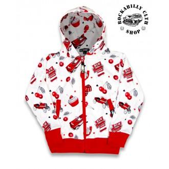 DĚTIČKY / KIDS - Dětská mikina Six Bunnies Hotrod Cherry