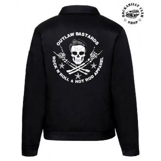 KLUCI / BOYS - Pánská bunda Outlaw Bastards Skull Jacket