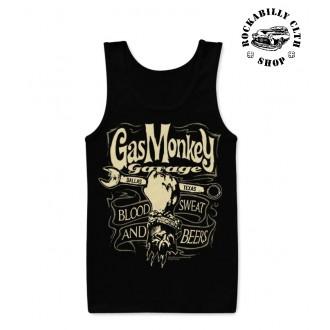 GAS MONKEY GARAGE - Pánské tílko Gas Monkey Garage Wrench Label Tank Top