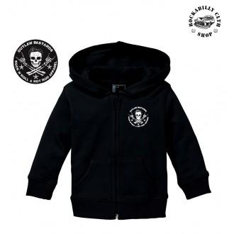 DĚTIČKY / KIDS - Dětská mikina s kapucou Outlaw Bastards Skull Hoodie Black