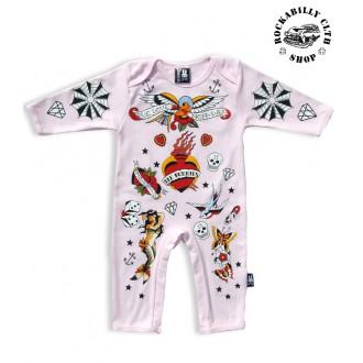 DĚTIČKY / KIDS - Dětské Body Six Bunnies Old School Bunny Suit Pink