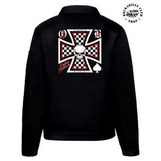 KLUCI / BOYS - Pánská bunda Outlaw Bastards Skull Cross Jacket