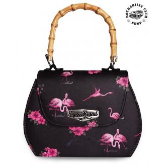 LIQUOR BRAND - Dámská taška kabelka retro rockabilly pin-up Liquor Brand Flamingoes
