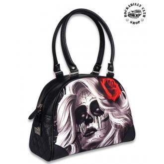 LIQUOR BRAND - Dámská taška kabelka retro rockabilly pin-up Liquor Brand Faithless