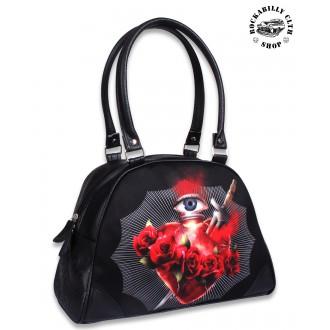 LIQUOR BRAND - Dámská taška kabelka retro rockabilly pin-up Liquor Brand Burning Heart
