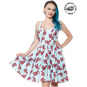 SOURPUSS - Dámské šaty Rockabilly Retro Pin Up Sourpuss Clothing Lobster Sweets Dress