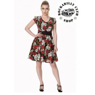 HOLKY / GIRLS - Dámské šaty Rockabilly Retro Pin Up Banned Green With Envy Dress