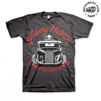 AMERICAN HOTRODS - Tričko pánské American Hotrods Johnny Habits Hot rod