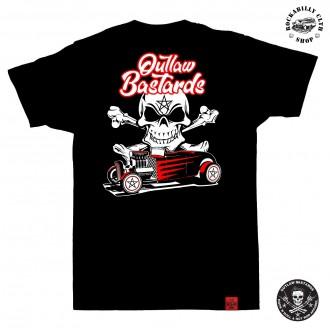 OUTLAW BASTARDS - Tričko pánské Outlaw Bastards Hot Rod Pentagram