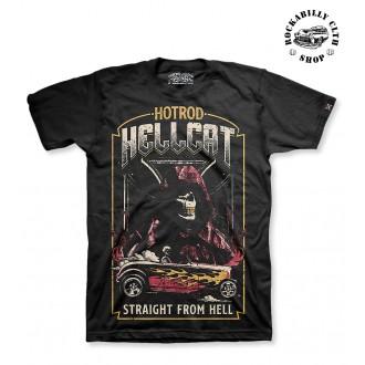 HOTROD HELLCAT - Pánské Tričko Hotrod Hellcat Straight From Hell