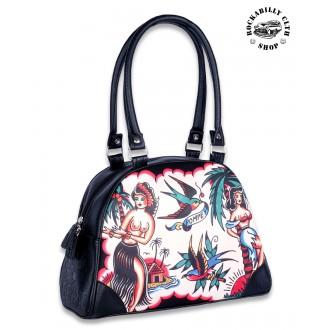 LIQUOR BRAND - Dámská taška kabelka retro rockabilly pin-up Liquor Brand Aloha