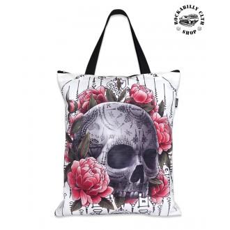 LIQUOR BRAND - Dámská taška retro rockabilly pin-up Liquor Brand Sak Yant Skull