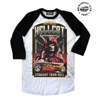 HOTROD HELLCAT - Pánské Tričko Hotrod Hellcat Raglan Straight From Hell