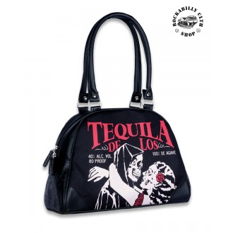 LIQUOR BRAND - Dámská taška kabelka retro rockabilly pin-up Liquor Brand Tequila