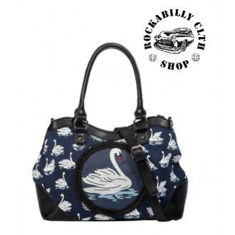 BANNED APPAREL - Dámská taška kabelka retro rockabilly pin-up Banned Summer Swan Handbag