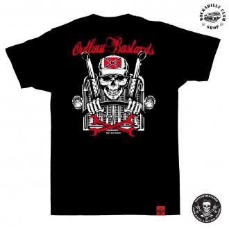 OUTLAW BASTARDS - Tričko pánské Outlaw Bastards Skull Trucker