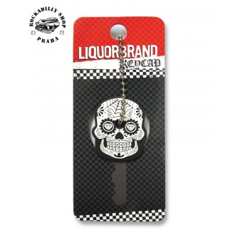 LIQUOR BRAND - Přívěsek /obal na klíče Liquor Brand Sugar Skull 2