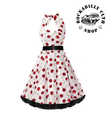 571c0bdeda17 HOLKY   GIRLS - Šaty Rockabilly Retro Pin Up Barbara Big Cherries
