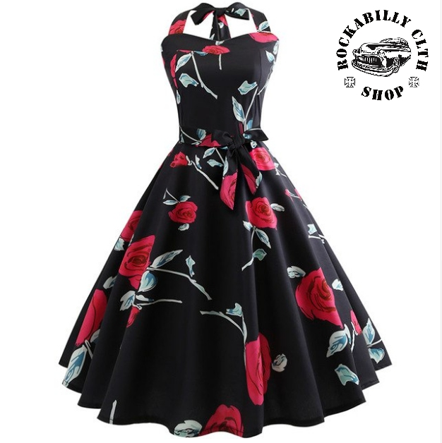 09799f85c028 HOLKY   GIRLS - Šaty Rockabilly Retro Pin Up Barbara Roses Black