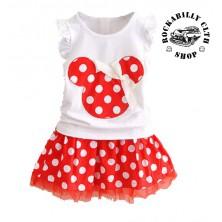 Šatičky dětské Rocka Minnie Mouse Baby Girls Dot Red