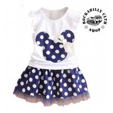 Šatičky dětské Rocka Minnie Mouse Baby Girls Dot Blue