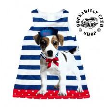 Šatičky dětské Rocka Sailor Dog Baby Girls Dress