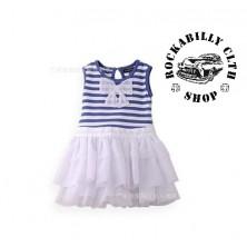 Šatičky dětské Rocka Baby Girls Bow Striped Dress