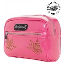 Kosmetická taška Sourpuss Betsy Make Up Sparrow Gumball Pink
