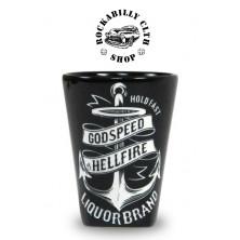 Keramický panák Liquor Brand Anchor